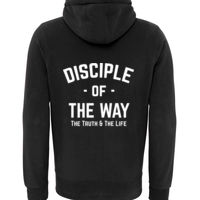 Disciple of the Way - Sherpa Fleece Zip Hoodie-Peach Finished Thumbnail